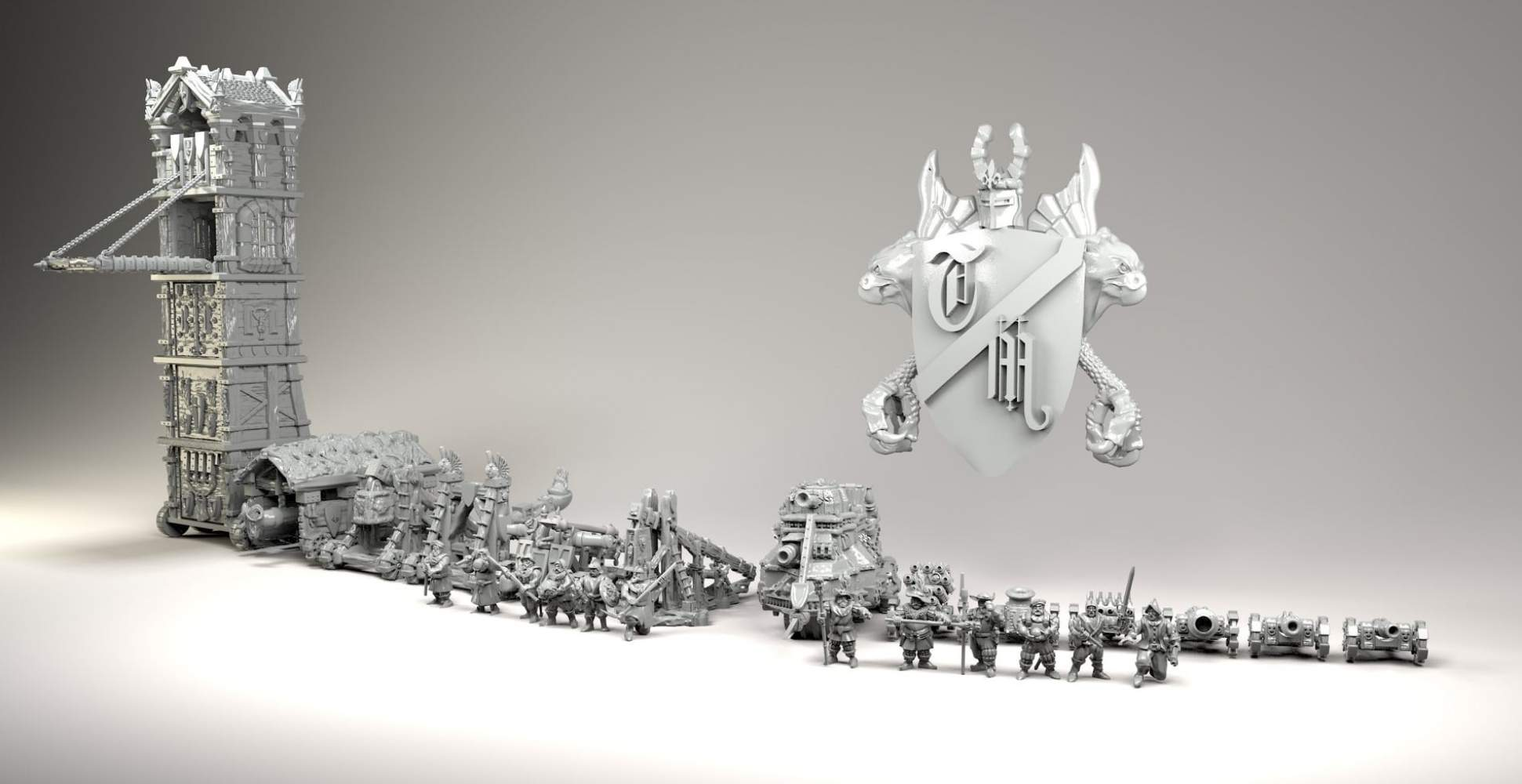 Siege equipment stl files for 3dPrinting