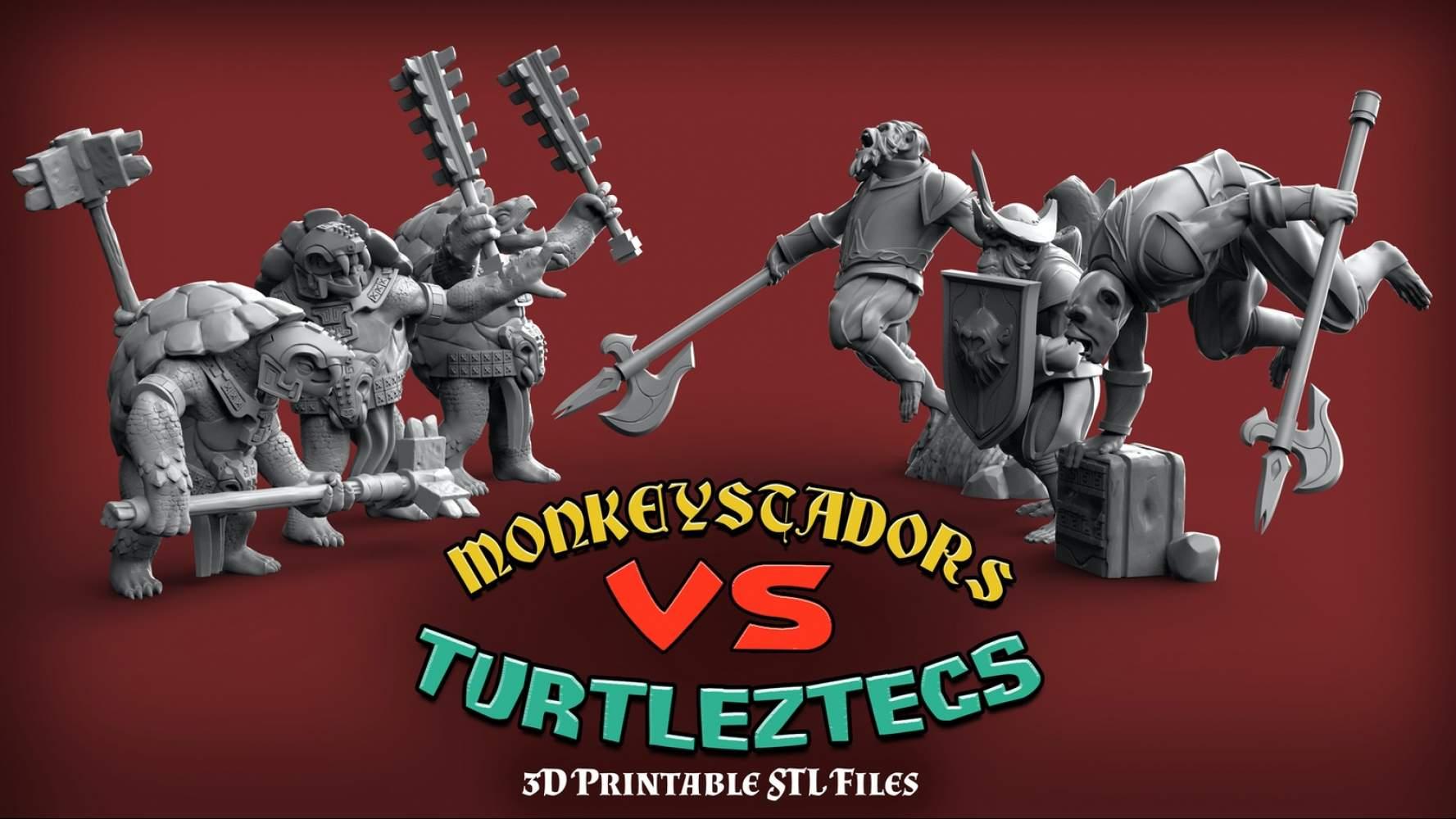 Monkeystadors vs Turtleztecs
