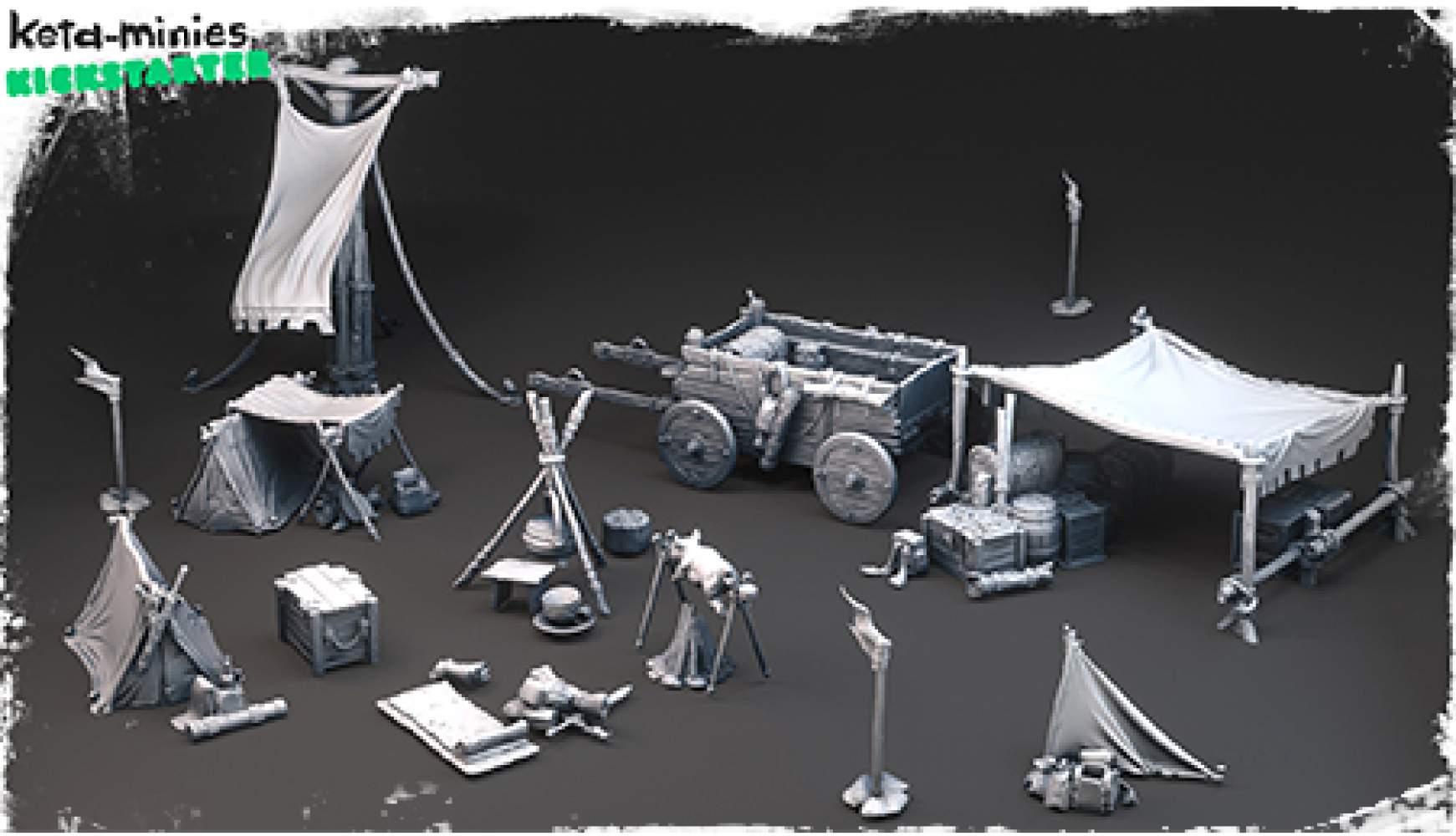 Keta Minies Kickstarter !  Printable STLs for Tabletop Games