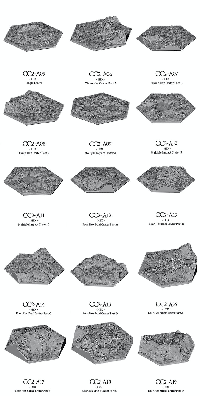 Crater Designs Included