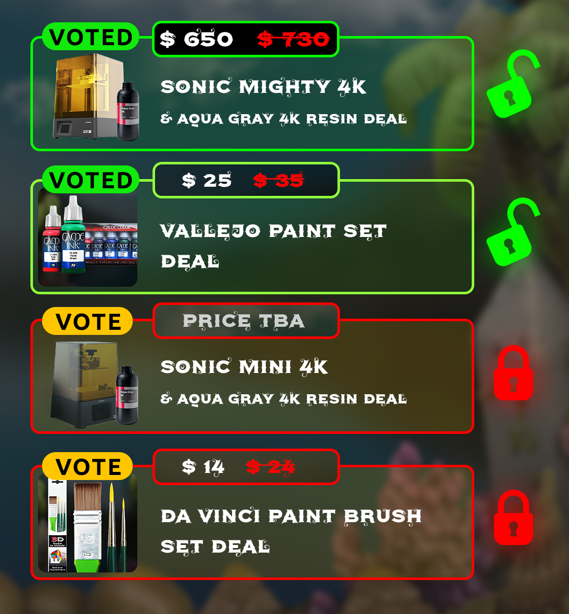 VOTE STRETCH GOALS