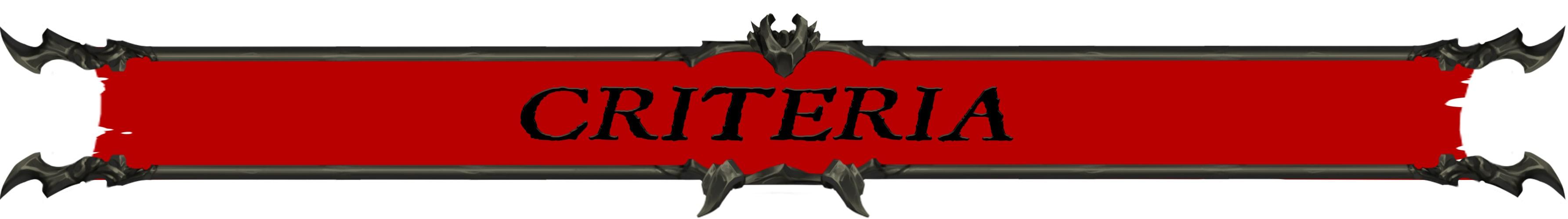 Criteria Banner
