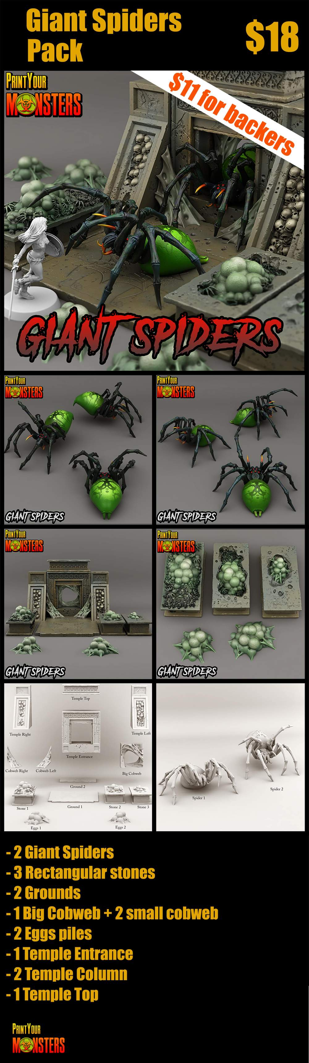 Giant Spiders Pack