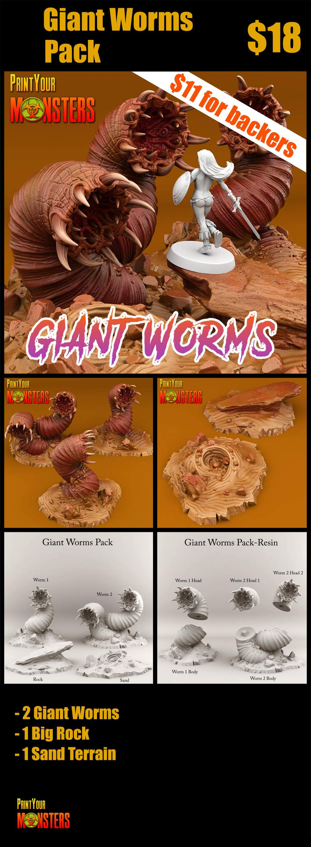 Giant Worms Pack
