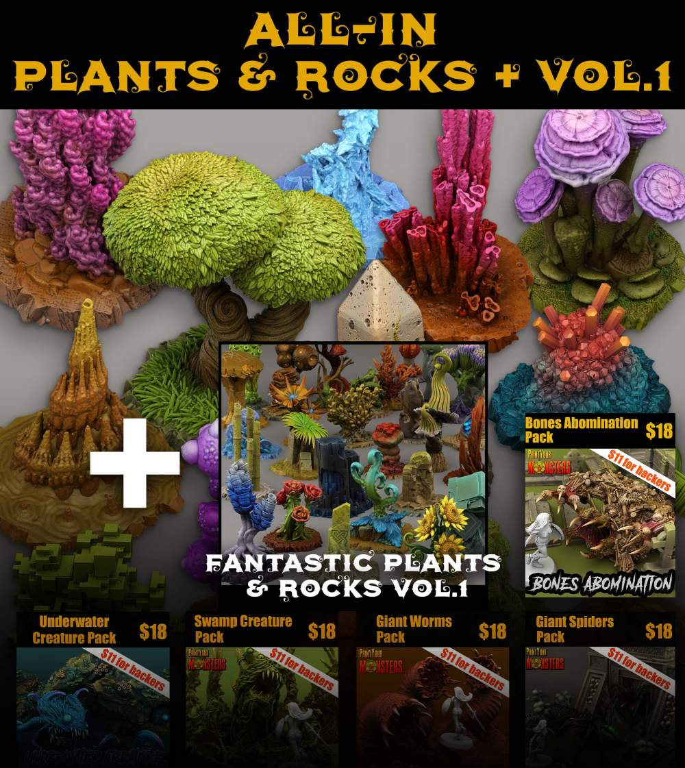 ALL-IN PLANTS & ROCKS + VOL. 1 (Late Pledge)'s Cover