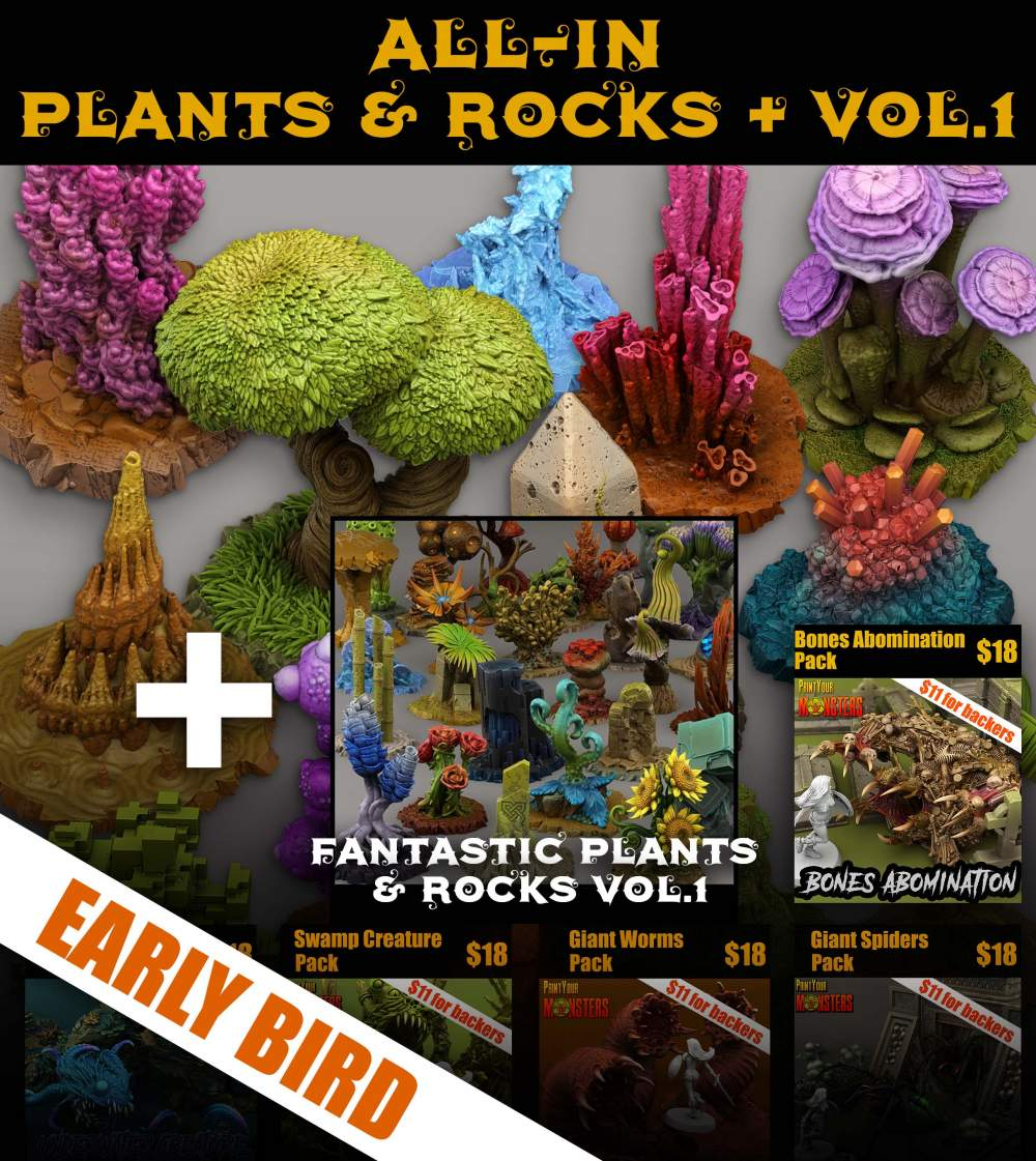ALL-IN PLANTS & ROCKS + VOL. 1 (72hrs - EARLY BIRD, Ends on 29th)'s Cover