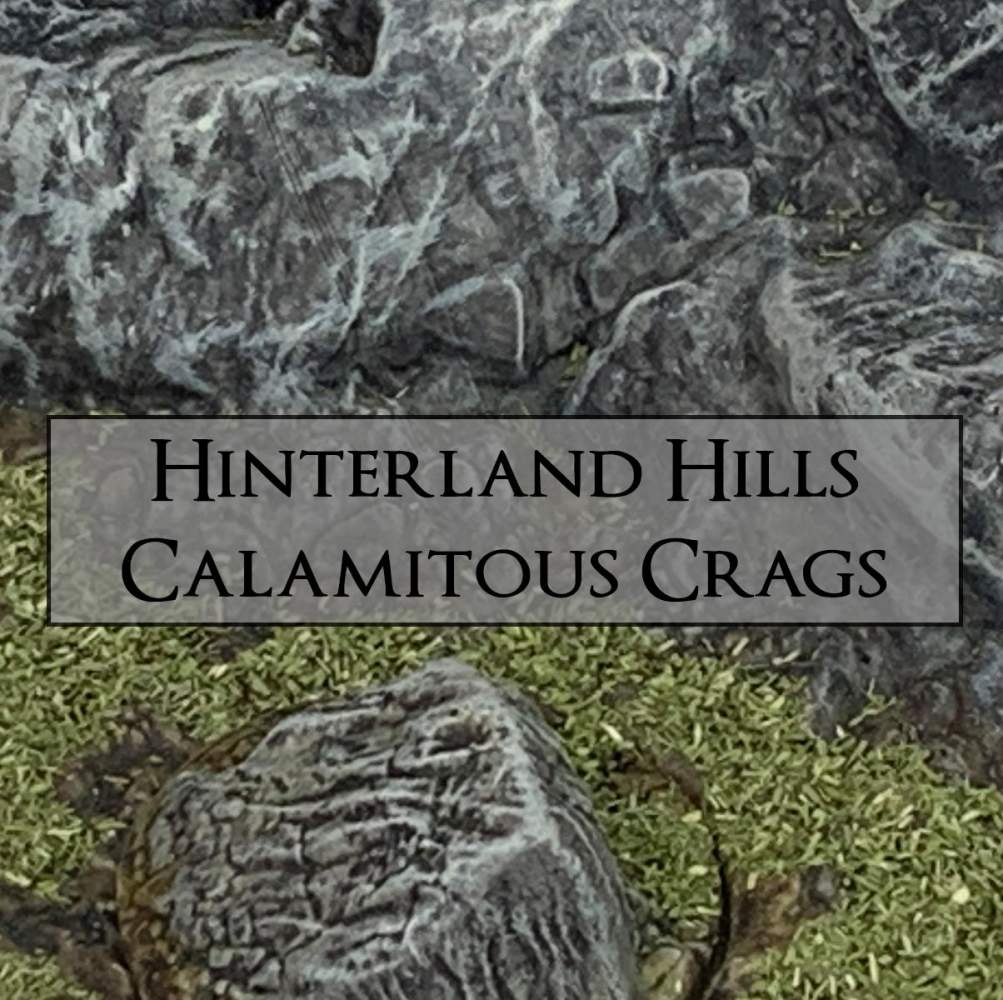 Hinterland Hills + Calamitous Crags's Cover