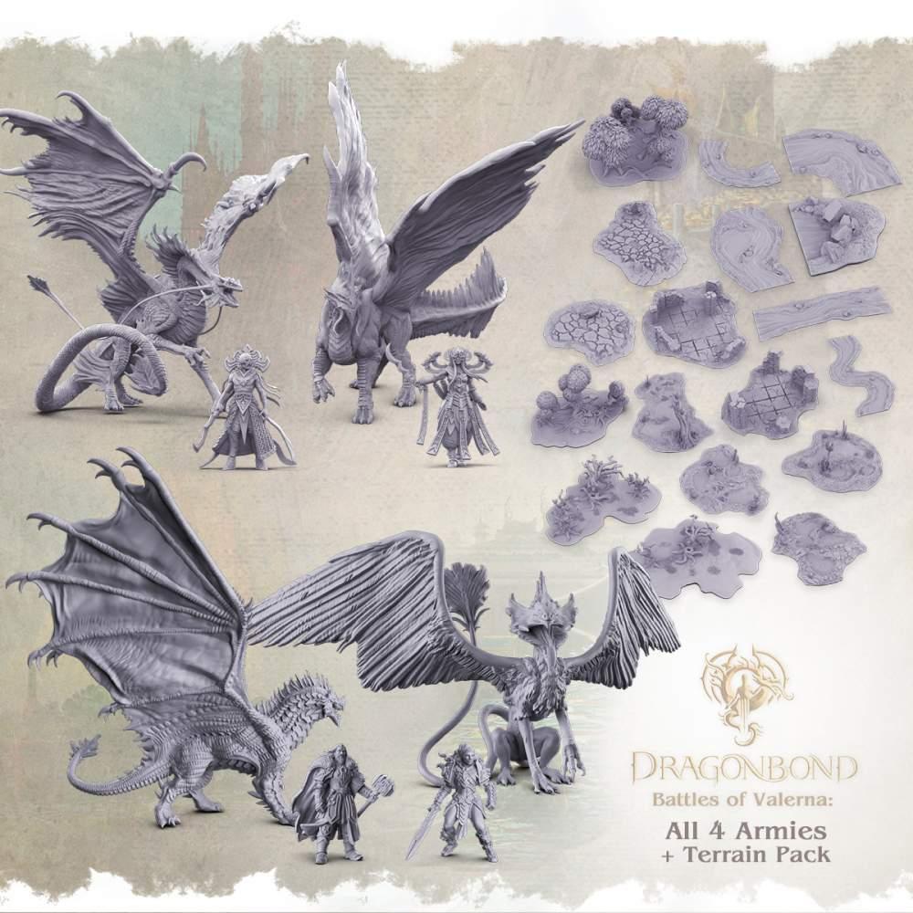 All 4 Armies + Terrain pack's Cover