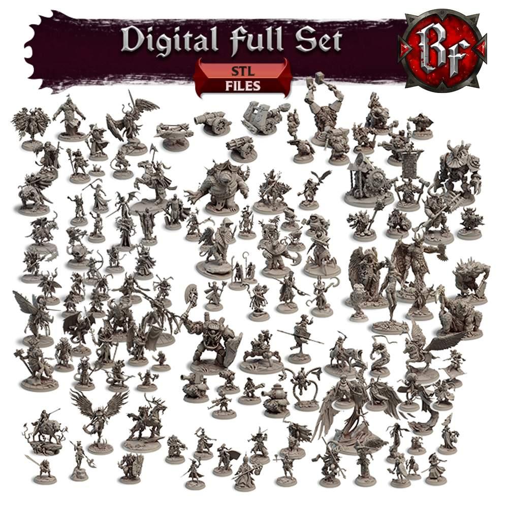 DIGITAL Full Set - ALL STL FILES!'s Cover