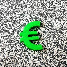 Euro sign fridge magnet