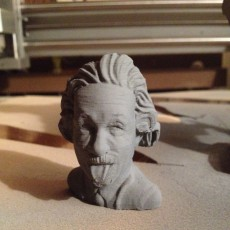 Picture of print of Bust of Einstein