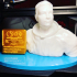 Neil Armstrong Bust & Moon Landing Plaque print image