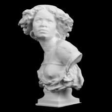 Bust of a Female Slave at The Ny Carlsberg Glyptotek, Copenhagen