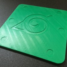 Picture of print of Naruto Leaf-Symbol Coaster