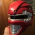 Red Power Ranger Helmet print image
