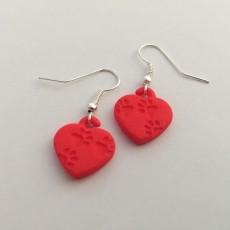 Pawprints On My Heart Earrings