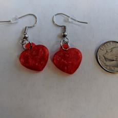 Picture of print of Pawprints On My Heart Earrings