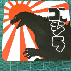 Picture of print of 'Gojira' Coaster