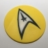 Star Trek TOS USS Enterprise Command Logo Coaster / Plaque image