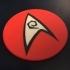 Star Trek TOS USS Enterprise Engineering / Security Department Coaster / Plaque image