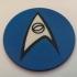 Star Trek TOS USS Enterprise Science & Medical Dept. Logo Coaster / Plaque image