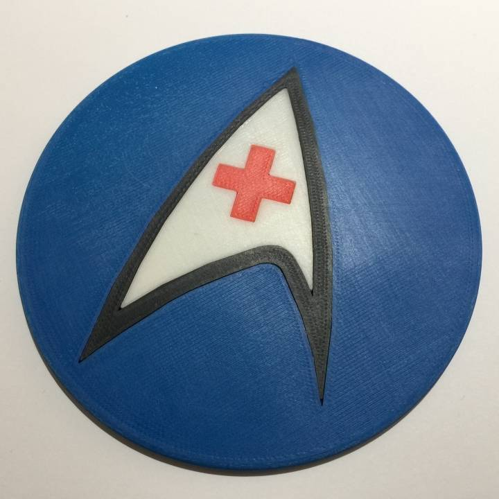 Star Trek TOS USS Enterprise Nursing Department Logo Coaster / Plaque