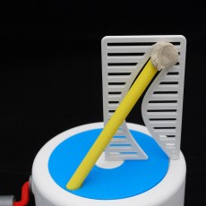 Picture of print of Straight Pole + Curved Hole Illusion