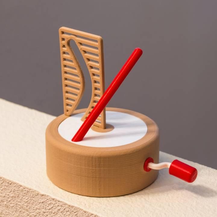 Straight Pole + Curved Hole Illusion