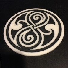Doctor Who Seal of Rassilon Coaster / Plaque