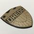 Judge Dredd Comics Badge Coaster / Plaque image