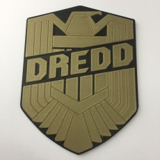Judge Dredd Movie Badge Coaster / Plaque