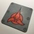 Klingon Trefoil Emblem Coaster / Plaque image