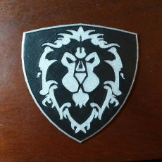 Picture of print of World of Warcraft Alliance Shield Coaster / Plaque