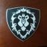 World of Warcraft Alliance Shield Coaster / Plaque print image