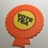 'Vote Tea' Rosette Coaster / Plaque primary image