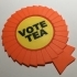 'Vote Tea' Rosette Coaster / Plaque image