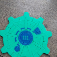 Picture of print of Fallout Vault Door Coaster