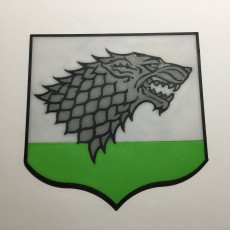 Game of Thrones House Stark Pennant Coaster