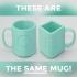 Squircle Mug // Ambiguous Cylinder Illusion image