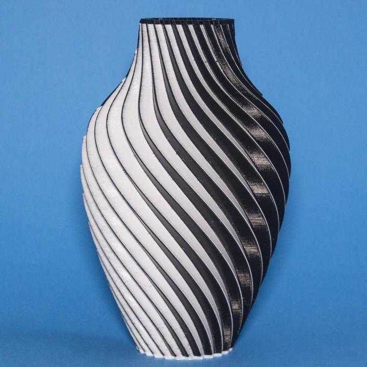 Chromatic Split Vase