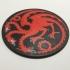 Game of Thrones Pennant of House Targaryen Coaster image