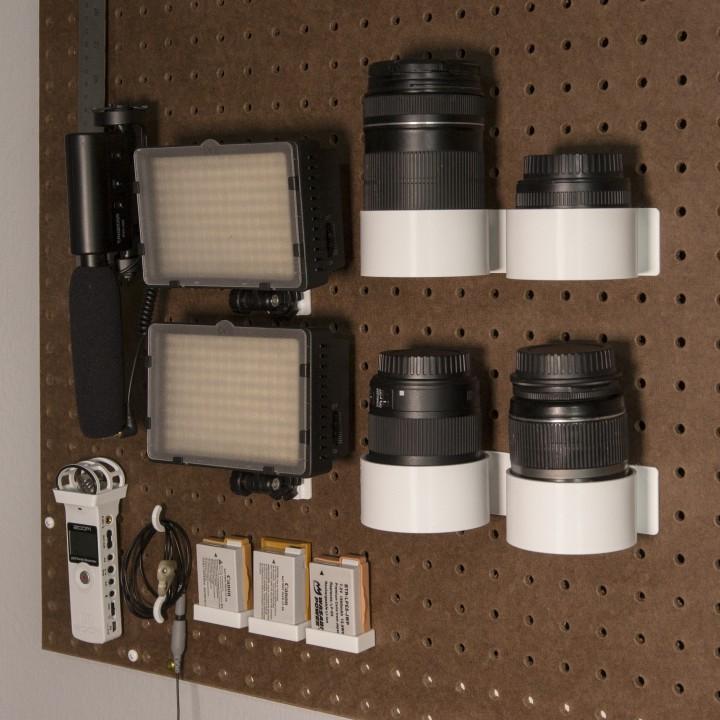 Peg Anything // Camera Lens Holders