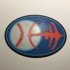 Star Trek DS9 Niners Baseball Team Emblem Coaster
