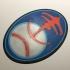Star Trek DS9 Niners Baseball Team Emblem Coaster image