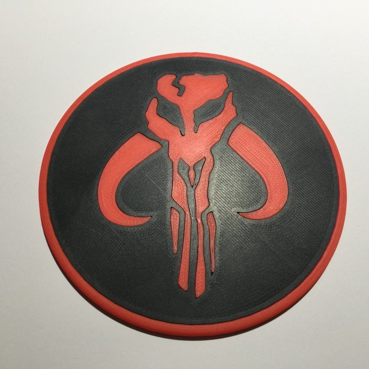 Star Wars Mandalorian Emblem Coaster / Plaque
