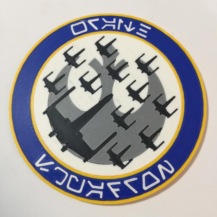 Star Wars Wraith Squadron Unit Patch Coaster / Plaque