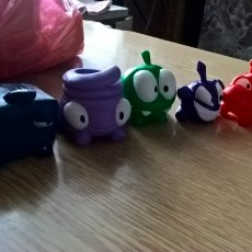 Picture of print of Cut the Rope: Om Nom and his friends.