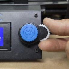 3D Printer Gear Knob with Fine Tuning Dial