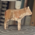 Wooden cow toy image