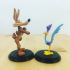 Road Runner and Wile E. Coyote from Looney Tunes print image